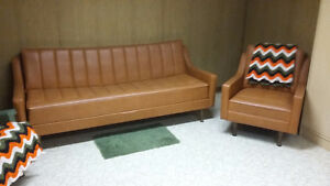 Vintage RETRO FURNITURE. Couch set. Kitchen Tables. Lamp