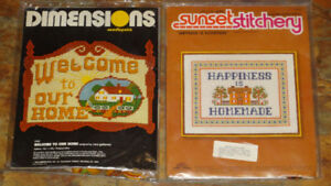 Needlepoint & Counted Cross Stitch Kits NEVER OPENED $5 each
