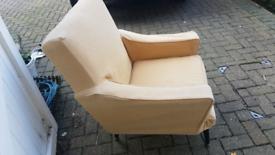 Retro Mid Century armchair Dansette legs with plumbs cover