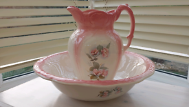 Antique China Jug & Bowl set