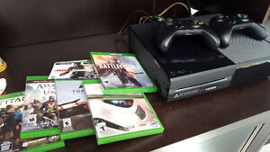Xbox One, mint condition, games, controllers, microphone