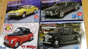Vintage car model kits