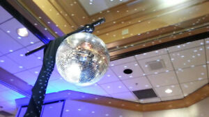 Clubs, Live acts  or DJs  Mirror (Disco) Ball, T=Bar and stand