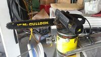 1 1/2 HP Mculloch  Electric Chain Saw