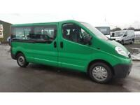 Vauxhall VIVARO COMBI LWB 9 seats crewcab van / minibus **27k miles no VAT**