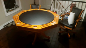 Poker and Game table with chairs