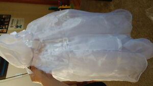 12 months girls baptism gown