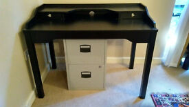 IKEA office/computer desk plus filing cabinet
