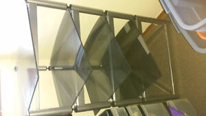 Modern Square Glass Shelving Unit/ Bookcase for for Sale!! Peterborough Peterborough Area image 2