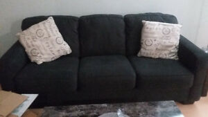 almost brand NEW Ashley sofa set with tables