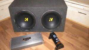"""12"""" KICKER COMP SUBS WITH A 2500 WATT AMP AND CAP 4 SALE"""