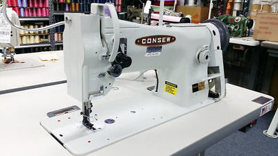 Consew 206rb5 Industrial Sewing Machine Wneedle Positioner Servo Caster Legs