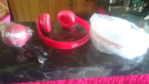 Headphones - NEW- Budweiser Promotional w/ speaker