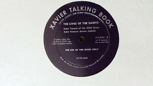 Unique 8 LP Talking Book on the Lives of the Saints