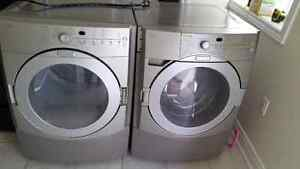 Kitchen aid superba  front load stackable washer and dryer 3yrs