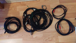 """XLR Cables, RCA to 1/4"""" and 1/4"""" patch cable"""
