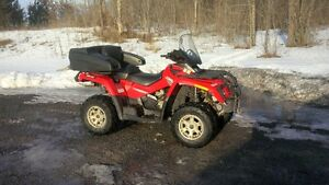 2007 can am outlander two up
