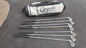 Older golf clubs and bag all for 15