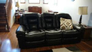 New leather power recliner