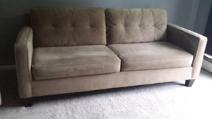 Beige chesterfield + Free chair