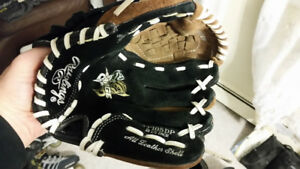 Kids baseball glove and a ball