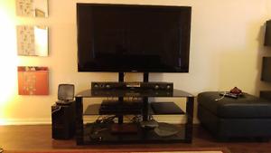 55' LED TV & Soundbar by Samsung with TV trolley