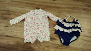 3-6 months outfits & bathing suits