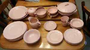 Peach petal dishware from Grindley England