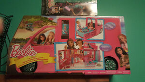Brand new Barbie Glam  Camper  And 1 Brand new Packeged Barbie