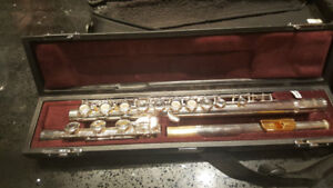 Yamaha flute YFL-381 HGL with silver head and gold lip