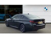 2021 BMW 5 Series 530e M Sport 4dr Auto [Pro Pack] Saloon Saloon Petrol/PlugIn E