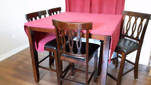 Pub Style 5 Piece Dining Table Set
