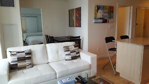 October: Furnished 1 Bed + Den Downtown @ Maple Leaf Sq - Union