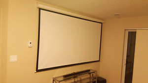 Pull down projector screen