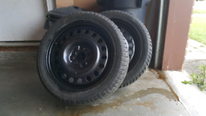 225/45R17 winter tires on rims for sale