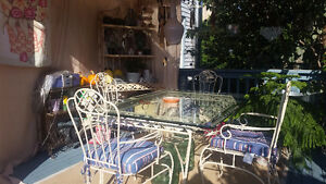 Wrought Iron table with hutch