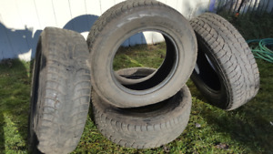 4 Used winter Truck Tires