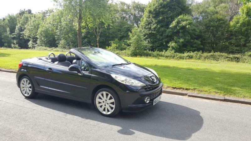 Peugeot 207 CC 1.6 16v 120 Coupe GT CONVERTIBLE,FULL BLACK LEATHER