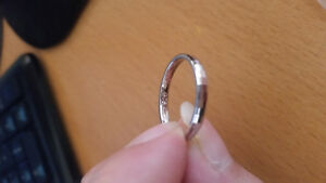 New silver wedding band size 8
