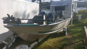 1997 Starcraft 15' Aluminum Fishing Boat totally equipped/Trade