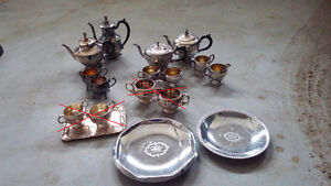 Bone China & Silver Pieces for sale (Used for Wedding)