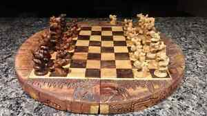 Beautifully hand crafted african chess set