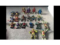 20 ninja turtle figures all with weapons great gift for a turtle fab
