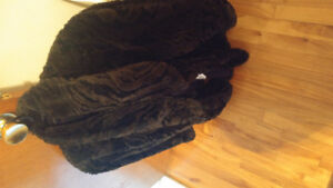 Black with some charcoal fur coat