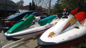 2 jet skis and trailer