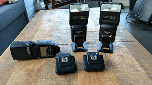 Canon Flash, RF60 Flash 2X, Cactus V6 II Transceivers 2x