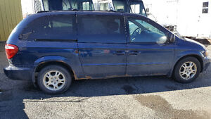 2002 Dodge Grand Caravan blue Minivan, Van
