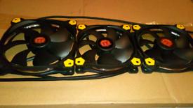 Thermaltake LED PC Case Fans Kit TT1425 & 2 x TT1225