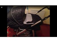 Silvercross Linear Freeway Pram and Pushchair and Silvercross infant car seat to fit Pram