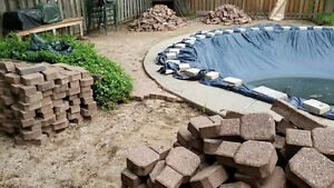 FREE!  Interlock Pavers for Patio/walkway - 700 sq ft - SAT ONLY